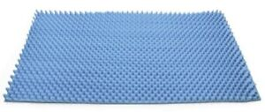 72 L x 32 W x 2 Inch Soft Foam Twin Bed Pad Mattress Egg Crate Overlay Topper