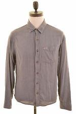 HOLLISTER Mens Shirt Medium Grey Cotton  NJ07