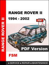LAND ROVER RANGE ROVER II P38A 1994 - 2002 FACTORY OEM SERVICE REPAIR FSM MANUAL