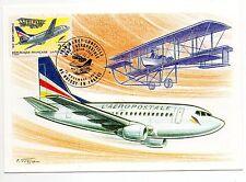 FRANCE Vol NANCY LUNEVILLE Aviation 80éme anniversaire 1992 Carte 1er jour