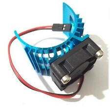 RC Electric 1:10 Car 540 550 3650 Motor Upgrade Alloy Heat Sink & Cooling Fan UK
