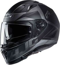 HJC i70 Eluma schwarz grau MC5SF Gr. XS Motorradhelm mit Sonnenblende