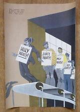 USSR POSTER COLD WAR WORK UNEMPLOYMENT POVERTY WORLD HISTORY WELT GESCHICHTE ART