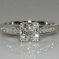 Eg _ DAMEN Mode Quadrat Strass Silber Hochzeit Braut Party Ring Geschenk Chee