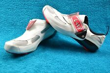 Lake Triathlon Road Bike Shoes Carbon Fiber Soles Leather Uppers Mens sz 7.5