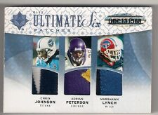 2009 ULTIMATE JOHNSON PETERSON LYNCH SLATON WESTBROOK FORTE 6 PATCHES /20 SICK