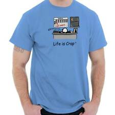 Life Is Crap Bad Day Accountant Tax Day Time Womens or Mens Crewneck T Shirt Tee