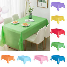 Birthday Party Disposable Tablecloth Table Cover Cloth Rectangle Spillproof 1PC