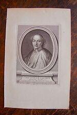 J. BAPTISTE DE SANTEUIL . PORTRAIT, GRAVURE ORIGINALE , 1760