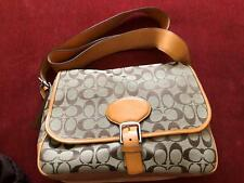 VINTAGE Coach 6081 Brown Signature C Cross Body Bag