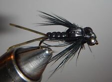 Bug Eyed Black Stonefly Nymph Size 8 (per 3)