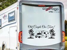 FORD RV MOTORHOME CAMPER, OLD COUPLE ON TOUR! , VINYL STICKER DECAL GRAPHIC