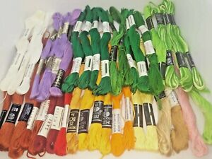LOT 40  threads for embroidery with a cross or satin stitch.