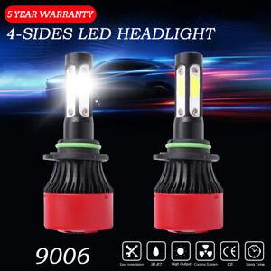 4side 9006 HB4 LED Headlight Conversion Kits High Low Beam 240W 6000K White Bulb