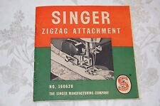 Zigzag, Zigzagger Instruction Manual 160620 for Singer 221 221K Sewing Machines.