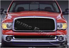 2002-2005 Dodge Ram 1500/2500 Black Billet Grille-Upper+Lower Combo 2Pc