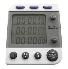 HANHART digitale cronometro 3 tempi TRIPLE TIMER OROLOGIO STOP/HALDA RALLY
