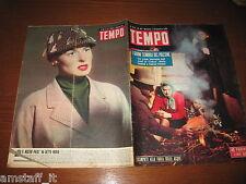 RIVISTA TEMPO 1951/48=INGRID BERGMAN=ALLUVIONE POLESINE= TERRACINI=TUPINI=