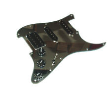 Dragonfire Prewired-Loaded FLOYD ROSE Strat Pickguard HSS,Chrome Mirror w/ Black