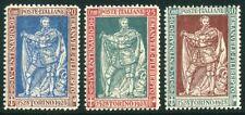 1928 Italia Regno Filiberto serie 3 valori dent. 13 3/4 centratissimi cert. **