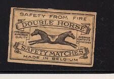 Ancienne étiquette  allumettes Belgique  A412 Cheval