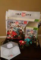 Xbox 360 Disney Infinity 1.0 Starter Pack Kids Game, Game Base & 3 Figures - EUC
