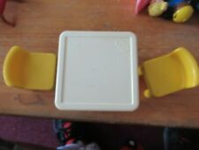 Little Tikes doll house kitchen table & 2 yellow chairs NICE