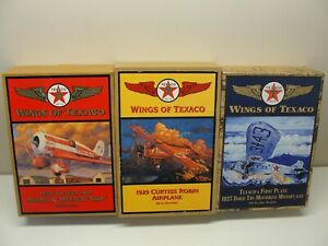 3 NEW WINGS OF TEXACO DIE-CAST BANK AIRPLANES 5TH, 6TH, 7TH IN SERIES