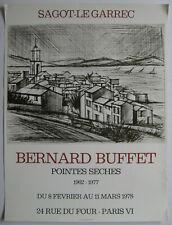 BUFFET BERNARD AFFICHE 1978 POSTER EXPOSITION SAGOT LE GARREC PARIS