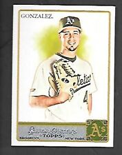 GIO GONZALEZ  2011 TOPPS ALLEN & GINTER SP #301 OAKLAND A'S   FREE COMBINED S/H