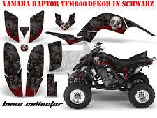 AMR Racing DECORO GRAPHIC KIT ATV YAMAHA RAPTOR YFM 660 Bone Collector merce in magazzino