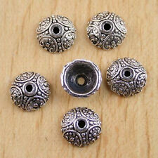 60pcs Tibetan silver round dotted spacer beads H0115