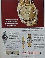 PUBLICITE ZODIAC MONTRE FLEUR DE LOTUS KING-LINE AEROSPACE DE 1967 FRENCH AD PUB