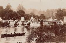 English Real photo Postcard. Kensington Gardens & Fountains. London. c1907