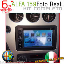 "AUTORADIO 6,2"" Alfa Romeo 159 Touch Navigatore Gps Bluetooth Mp3 Dvd sd Usb"
