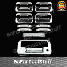 For Ford 04-14 F-150 Chrome 4Drs Handle W/O Pskh,Keypad+Tg Cover W/Keyhole