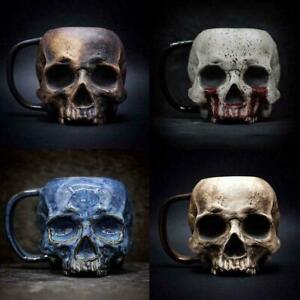 Skull Steel Mug Heap Death Mountain Beer Stein Tankard Coffee Cup Mug O6V7