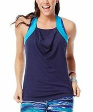 ZUMBA TREADED LONG TANK - Lets Go INDIGO - Size S SMALL - NWT