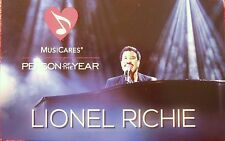 LIONEL RICHIE MUSICARES PERSON OF THE YEAR GRAMMY AWARDS 2016 INFORMATION CARD