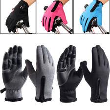 Men Women Windproof Sport Gloves Thermal Walking Sports Running Touch Screen UK