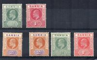Gambia 1902-05 vals to 2d MLH/MH