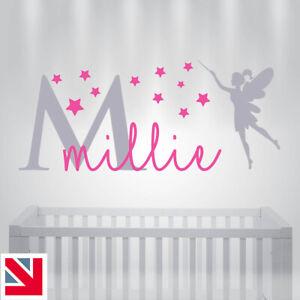 PERSONALISED Custom NAME Wall Sticker Baby Kids Nursery Girls Bedroom Decal