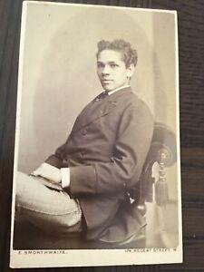 CDV  BLACK HISTORY int. VGL YNG MAN OF COLOUR London 1870 CDV PHOTO 7/10
