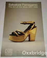 SALVATORE FERRAGAMO SHOE POSTER Original MUSEUM Fetish Art Of The UK Heel Italy