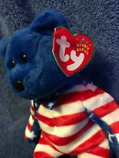 Beanie Baby Bear Liberty, vintage, blue face, new condition
