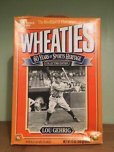 WHEATIES Unopened Lou Gehrig 60th Anniversary Baseball 1992 SEALED FULL
