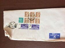 b1u ephemera stamped franked envelope airmail s r brothers india