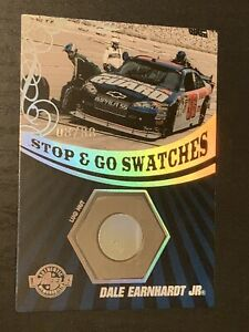 DALE EARNHARDT JR. 08/88 Race Used Lug Nut Card STOP & GO SWATCHES AUTHENTIC