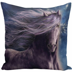 HORSE & WESTERN GIFTS HOME DECOR WILD HORSE  CUSHION COVER 18 inch 45cms
