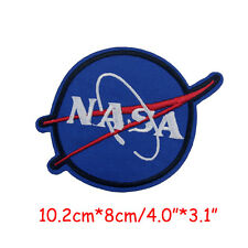 "NASA Space Program Iron On Patch Astronaut Spaceship Embroidery Applique 4""X3.1"""